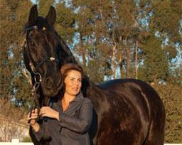 Vivian with horse