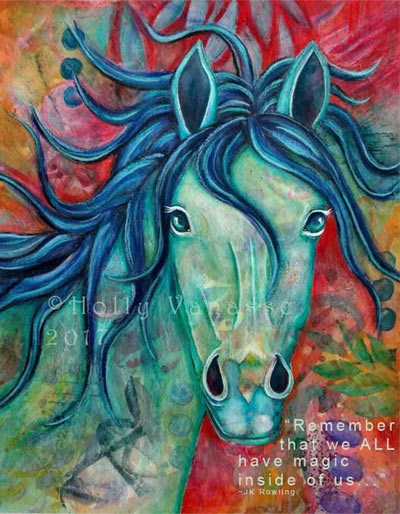 Horse painting by Holly Vanasse